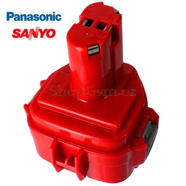 Baterie Makita 1220, 1222, 1233, 1234, 1235, 1235F - 12V - 3000mAh - články Sanyo Panasonic - AEB