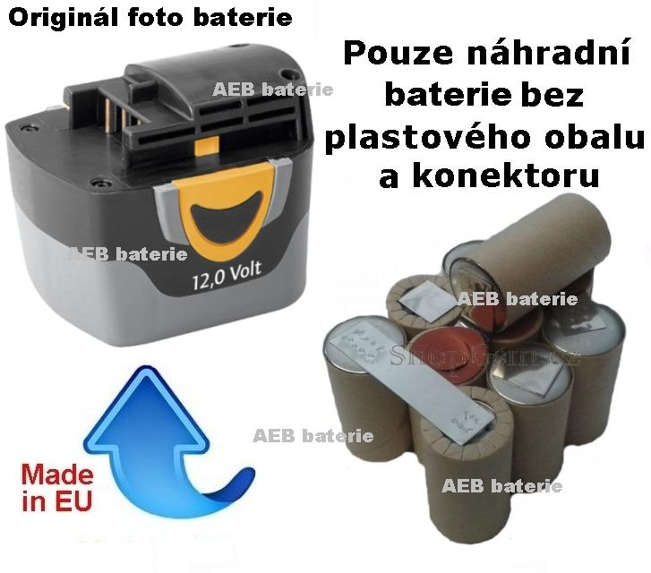 Baterie Narex AP-ASV 12E 12V 2500mAh články Panasonic KIT Panasonic - AEB