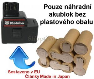 Baterie pro Metabo 30066000, 31724000, 12V 2000 mAh články Panasonic KIT