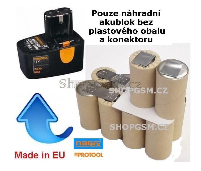 Baterie Protool AP-DSP-12E 12V 2500mAh články Panasonic KIT AEB