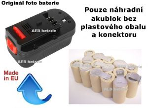 Baterie Black & Decker A1718 18V 1700 mAh NiCd - KIT Panasonic