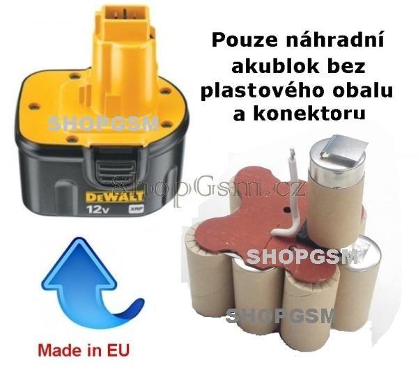 Baterie Dewalt DE9074 - 12V 1700 mAh - akublok Panasonic Panasonic - AEB