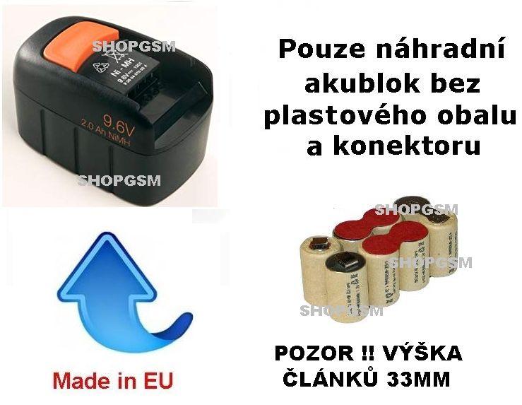Baterie Fein 92604070024 9,6V 1700 mAh NiCd - KIT Panasonic Panasonic - AEB