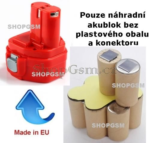 Baterie Makita 1220, 1222, 1233, 1234, 1235, 1235F - 12V - 2000mAh - KIT Panasonic Panasonic - AEB