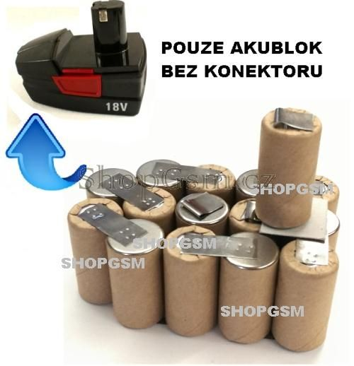 Baterie Parkside X18V-1 KH3191 2000 mAh NiCd - KIT AEB