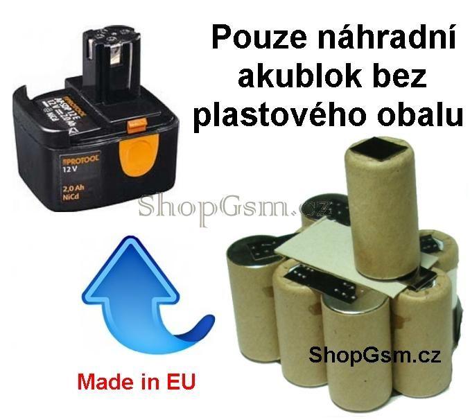 Baterie Protool AP-SDP 12E 2,0 Ah NiCd - KIT AEB