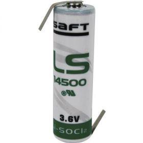 Nenabíjecí baterie A LS17500 Saft Lithium - vývody Z