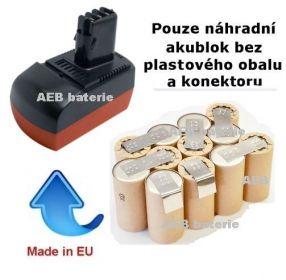 Baterie pro Metabo 6.25475 14,4V 2000 mAh KIT články Panasonic