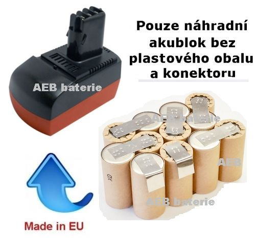 Baterie pro Metabo 6.25475 14,4V 2000 mAh KIT články Panasonic AEB