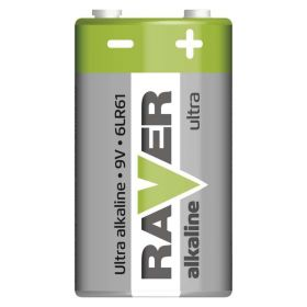 Alkalická baterie RAVER 6LF22 (9V)