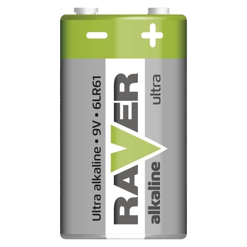 Alkalická baterie RAVER 6LF22 (9V) GP