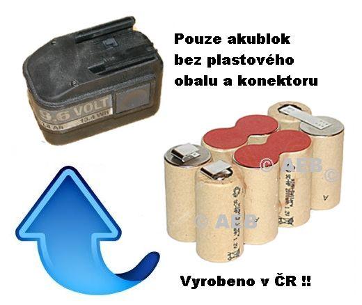 Baterie AEG / Atlas Copco B9.6, BX9.6, BXS9.6, MXS9.6, 9,6V 3000mAh AEB