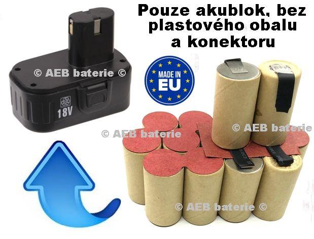Baterie Ferm CDA1007 - 18V 3000 mAh Ni-MH - KIT AEB