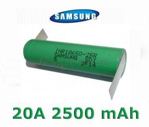 Baterie Samsung INR 18650-25R Li-Ion 2500mAh 20A - vývody Z