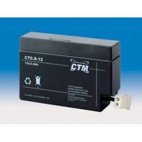 Olověná baterie CTM 12V 0,8Ah konektor AMP