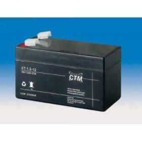 Olověná baterie CTM 12V 1,2Ah faston F1-4,7mm