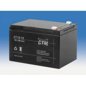 Olověný akumulátor CTM 12V 12Ah faston F2-6,3mm