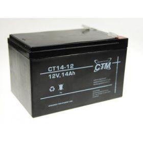 Olověný akumulátor CTM 12V 14Ah faston F2-6,3mm