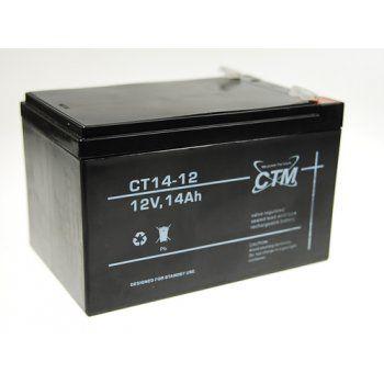 Olověný akumulátor CTM 12V 14Ah faston F2-6,3mm CTM Components GmbH, Německo