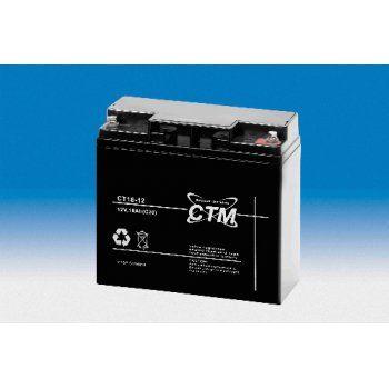 Olověný akumulátor CTM 12V 18Ah závit M5 CTM Components GmbH, Německo