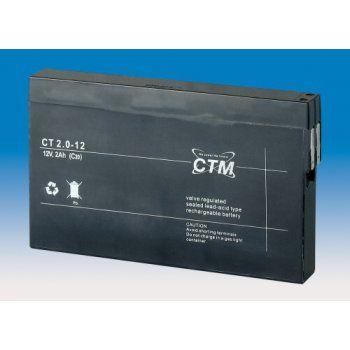 Olověný akumulátor CTM 12V 2,0Ah faston F1-4,7mm CTM Components GmbH, Německo