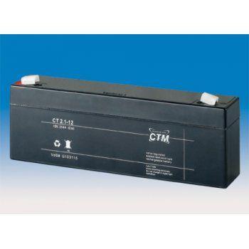 Olověný akumulátor CTM 12V 2,1Ah faston F1-4,7mm CTM Components GmbH, Německo