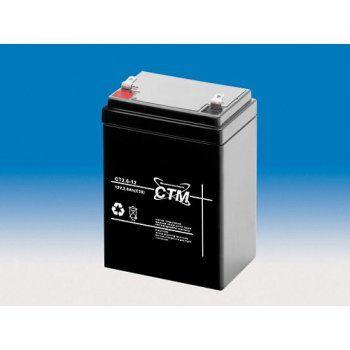 Olověný akumulátor CTM 12V 2,6Ah faston F1-4,7mm CTM Components GmbH, Německo