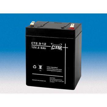 Olověný akumulátor CTM 12V 2,9Ah faston F1-4,7mm CTM Components GmbH, Německo