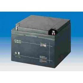 Olověný akumulátor CTM 12V 24Ah závit M5
