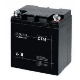 Olověný akumulátor CTM 12V 24Ah oko 6mm