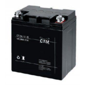 Olověný akumulátor CTM 12V 24Ah oko 6mm CTM Components GmbH, Německo