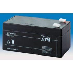 Olověný akumulátor CTM 12V 3,4Ah faston F1-4,7mm