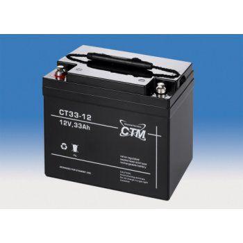 Olověný akumulátor CTM 12V 33Ah závit M6 CTM Components GmbH, Německo