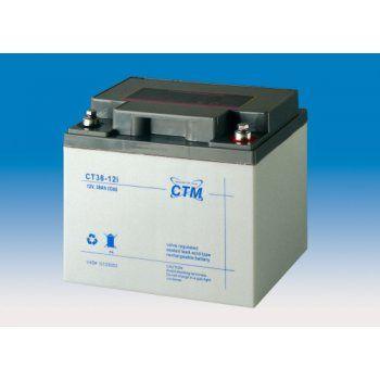 Olověný akumulátor CTM 12V 38Ah závit M6 CTM Components GmbH, Německo