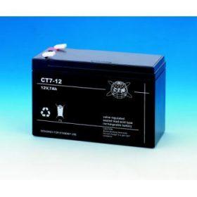 Olověný akumulátor CTM 12V 7Ah faston F1-4,7mm