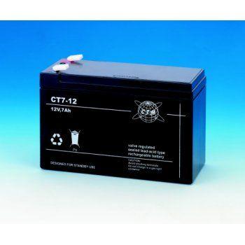 Olověný akumulátor CTM 12V 7Ah faston F1-4,7mm CTM Components GmbH, Německo