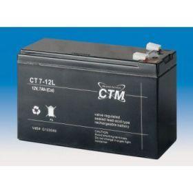 Olověný akumulátor CTM 12V 7Ah faston F2-6,3mm