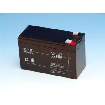 Olověný akumulátor CTM 12V 9Ah faston F2-6,3mm CTM Components GmbH, Německo