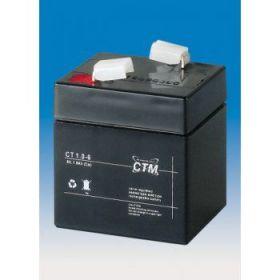 Olověný akumulátor CTM 6V 1,0Ah faston F1-4,7mm