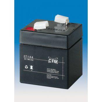 Olověný akumulátor CTM 6V 1,0Ah faston F1-4,7mm CTM Components GmbH, Německo