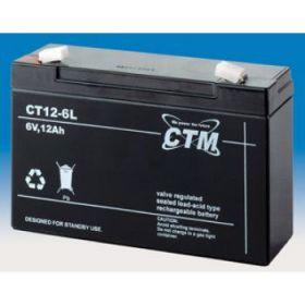 Olověný akumulátor CTM 6V 12Ah faston F2-6,3mm