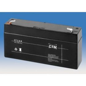 Olověný akumulátor CTM 6V 3,4Ah faston F1-4,7mm