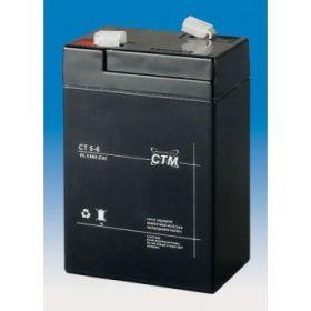 Olověný akumulátor CTM 6V 5Ah faston F1-4,7mm