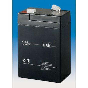 Olověný akumulátor CTM 6V 5Ah faston F1-4,7mm CTM Components GmbH, Německo