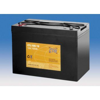 Olověný akumulátor CTM 12V 100Ah závit M6 CTL CTM Components GmbH, Německo
