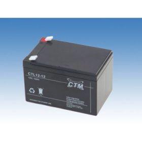 Olověný akumulátor CTM 12V 12Ah faston F2-6,3mm CTL