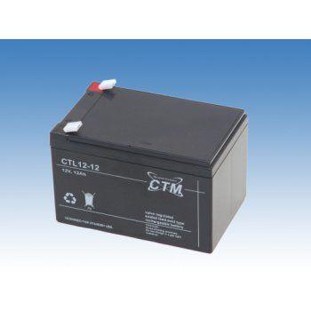 Olověný akumulátor CTM 12V 12Ah faston F2-6,3mm CTL CTM Components GmbH, Německo