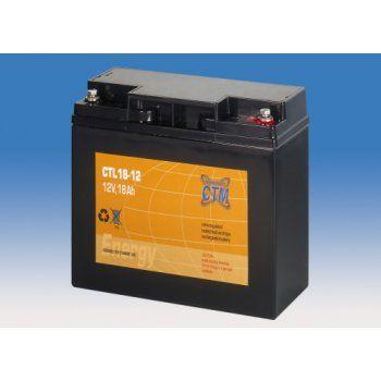Olověný akumulátor CTM 12V 18Ah závit M5 CTL CTM Components GmbH, Německo
