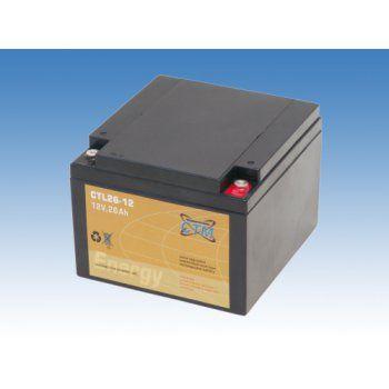Olověný akumulátor CTM 12V 26Ah závit M5 CTL CTM Components GmbH, Německo
