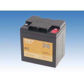 Olověný akumulátor CTM 12V 28Ah závit M5 CTL CTM Components GmbH, Německo